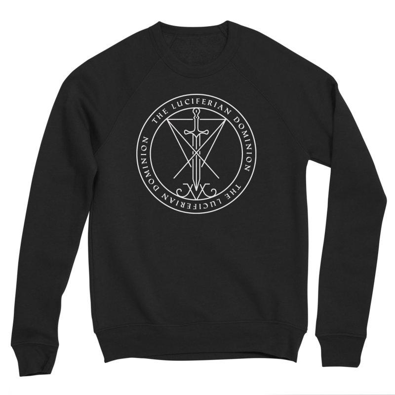 Dominion Emblem - White Men's Sponge Fleece Sweatshirt by The Luciferian Dominion