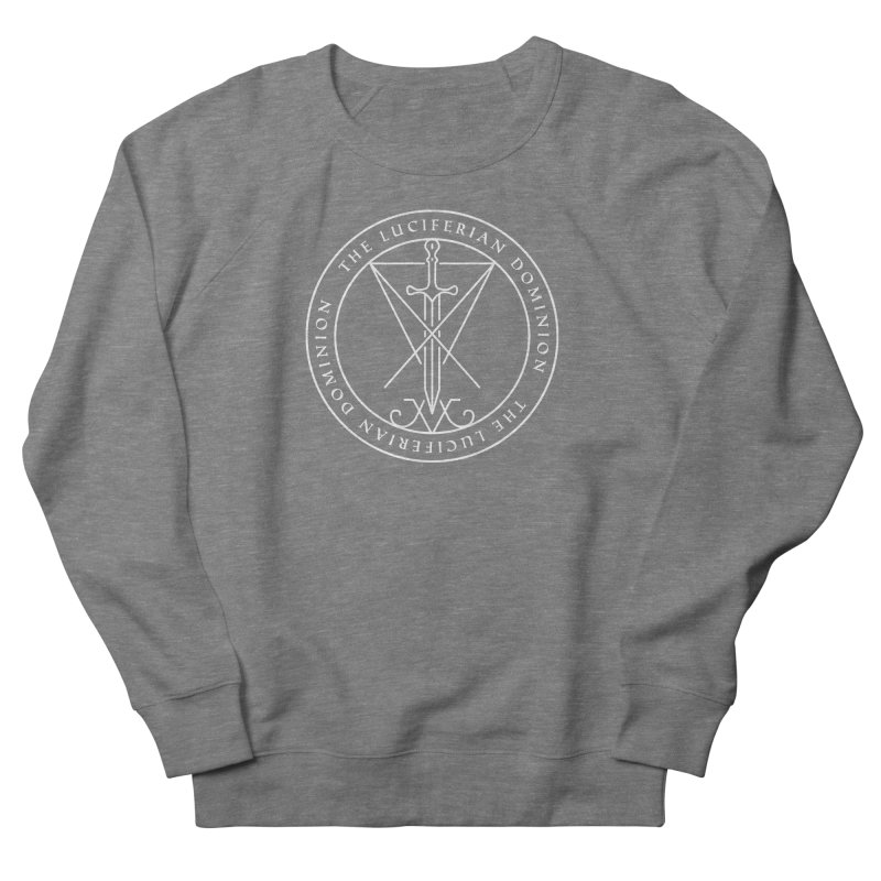 Dominion Emblem - White Women's French Terry Sweatshirt by The Luciferian Dominion