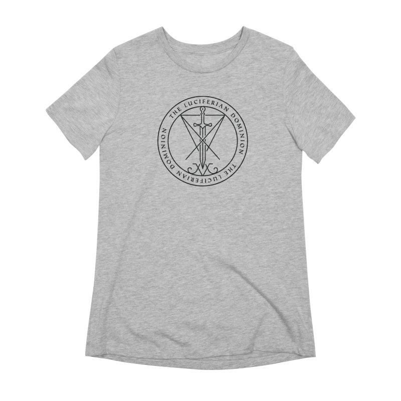 Dominion Emblem - Black Women's Extra Soft T-Shirt by The Luciferian Dominion