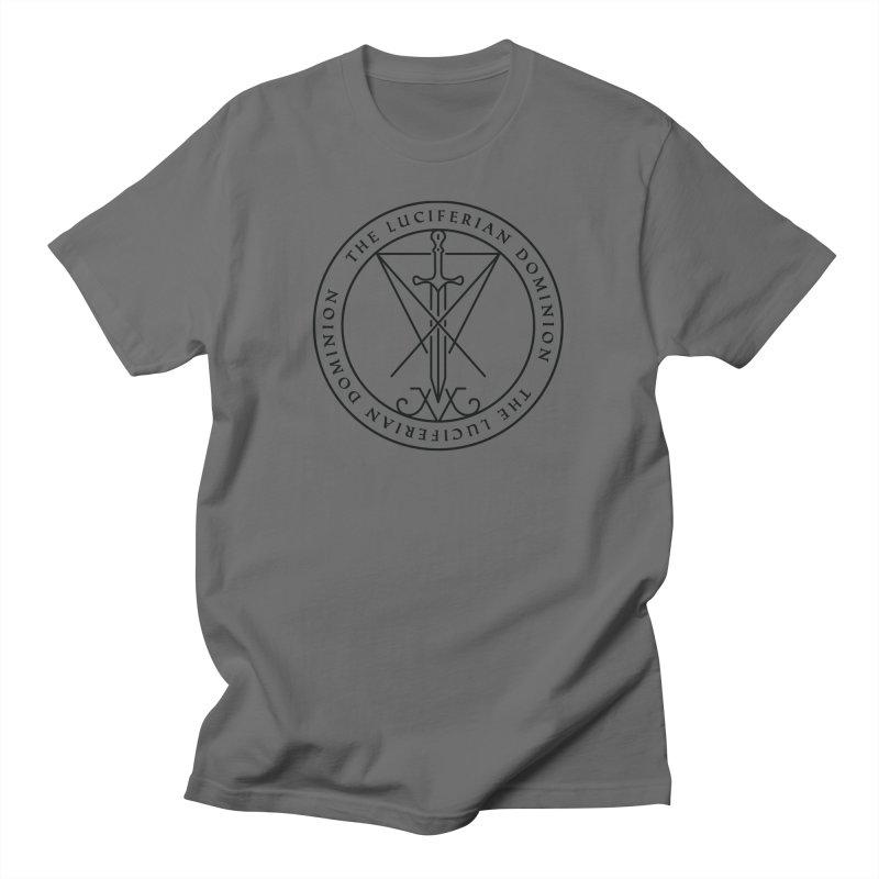 Dominion Emblem - Black Men's T-Shirt by The Luciferian Dominion