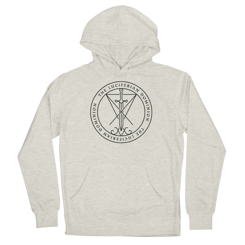 Dominion Emblem - Black Women's French Terry Pullover Hoody by The Luciferian Dominion
