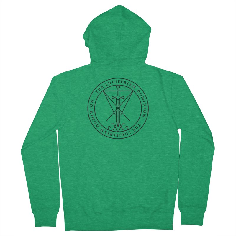 Dominion Emblem - Black Women's Zip-Up Hoody by The Luciferian Dominion