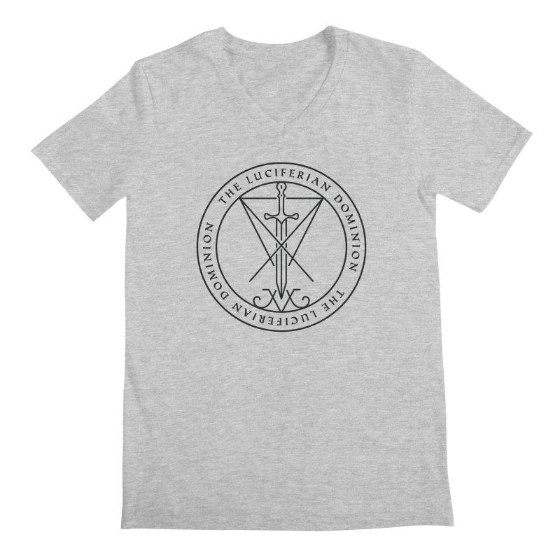 Dominion Emblem - Black Men's Regular V-Neck by The Luciferian Dominion
