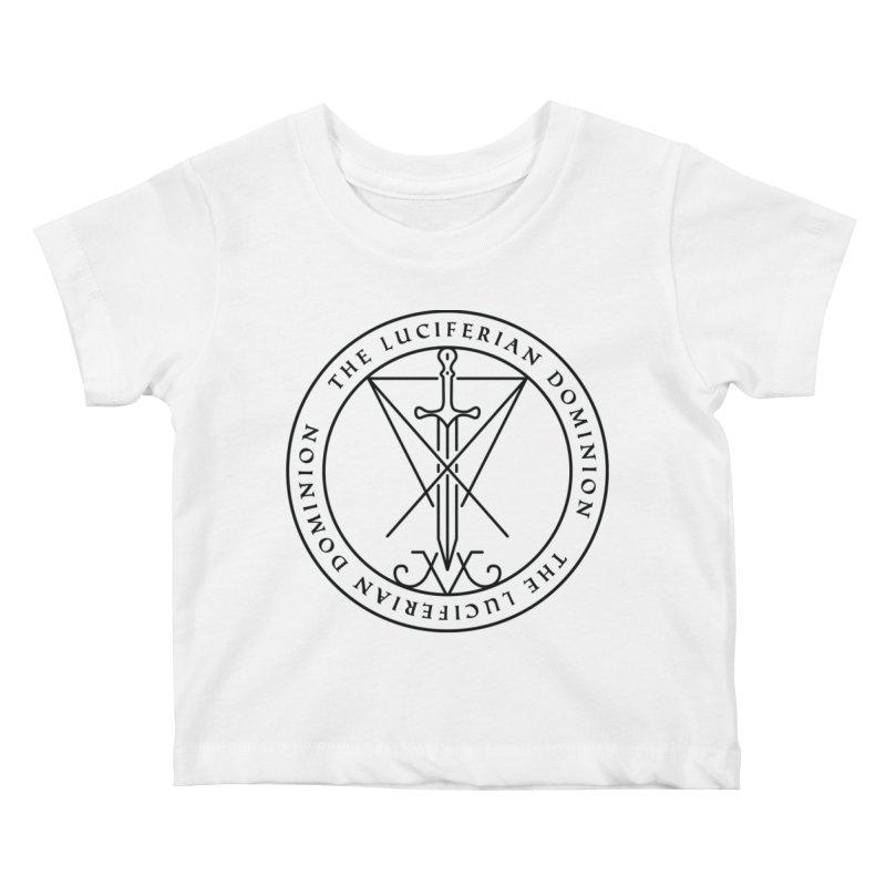 Dominion Emblem - Black Kids Baby T-Shirt by The Luciferian Dominion