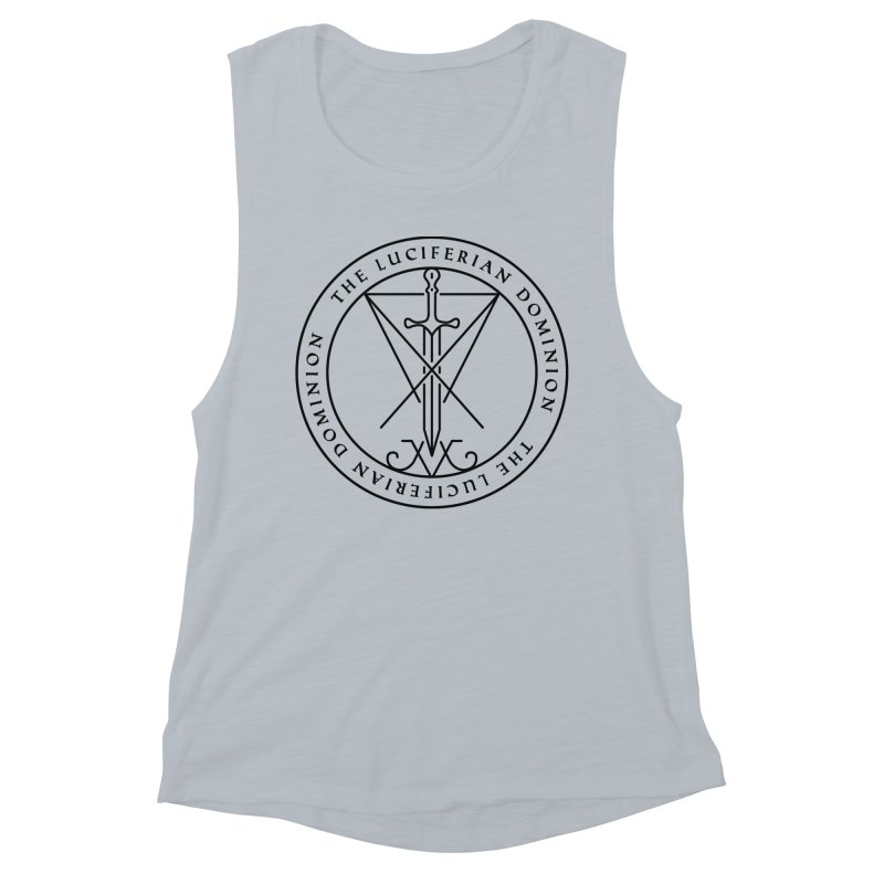 Dominion Emblem - Black Women's Muscle Tank by The Luciferian Dominion
