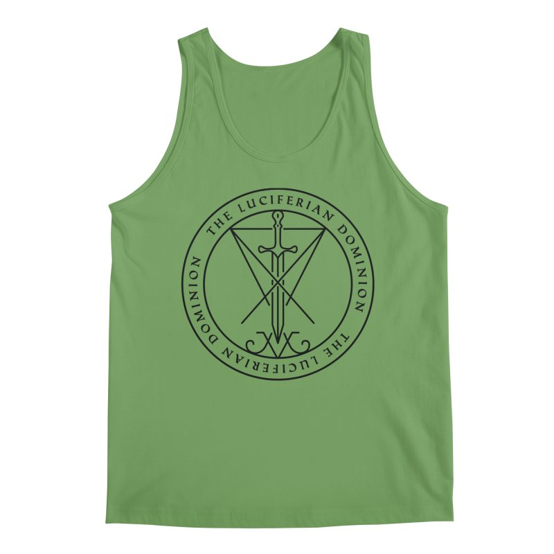Dominion Emblem - Black Men's Tank by The Luciferian Dominion