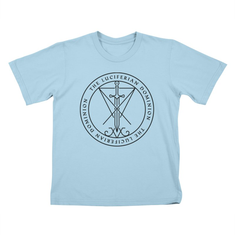 Dominion Emblem - Black Kids T-Shirt by The Luciferian Dominion
