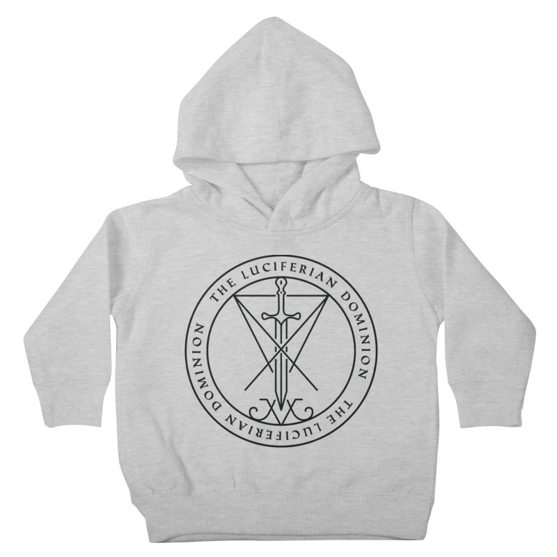 Dominion Emblem - Black Kids Toddler Pullover Hoody by The Luciferian Dominion