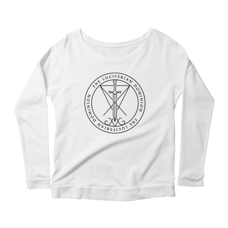 Dominion Emblem - Black Women's Scoop Neck Longsleeve T-Shirt by The Luciferian Dominion