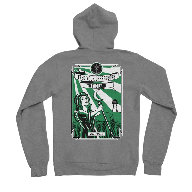 Lilith - Feed Your Oppressors To The Land Women's Zip-Up Hoody by The Luciferian Dominion