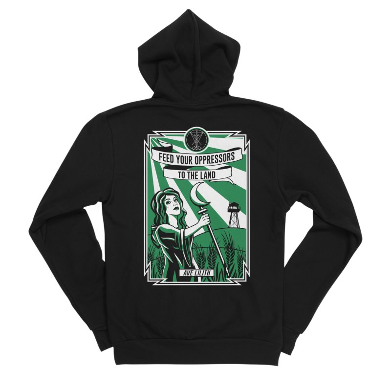 Lilith - Feed Your Oppressors To The Land Women's Sponge Fleece Zip-Up Hoody by The Luciferian Dominion