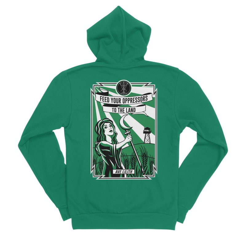 Lilith - Feed Your Oppressors To The Land Men's Sponge Fleece Zip-Up Hoody by The Luciferian Dominion