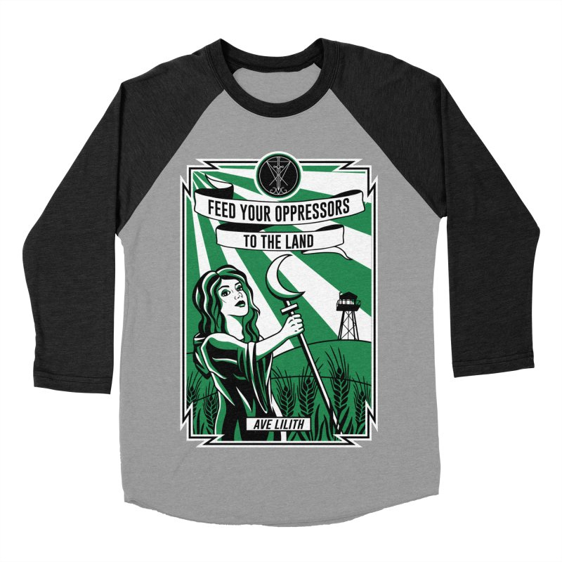 Lilith - Feed Your Oppressors To The Land Women's Baseball Triblend Longsleeve T-Shirt by The Luciferian Dominion
