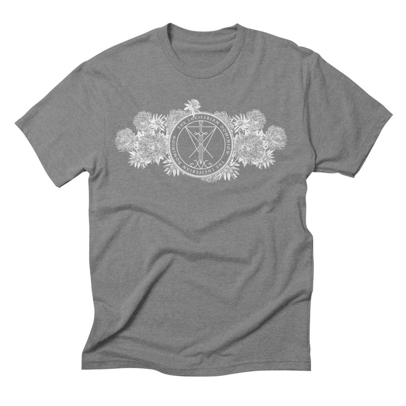 Dominion Flowers - White Men's T-Shirt by The Luciferian Dominion