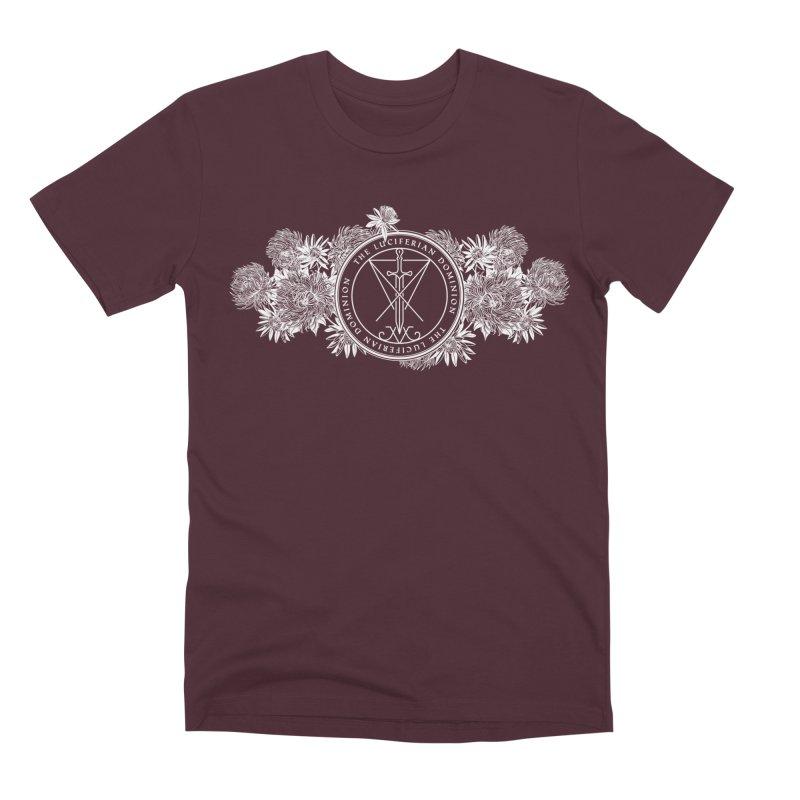 Dominion Flowers - White Men's Premium T-Shirt by The Luciferian Dominion