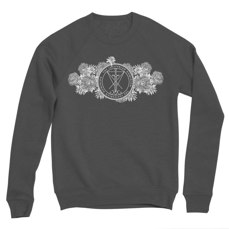 Dominion Flowers - White Men's Sponge Fleece Sweatshirt by The Luciferian Dominion