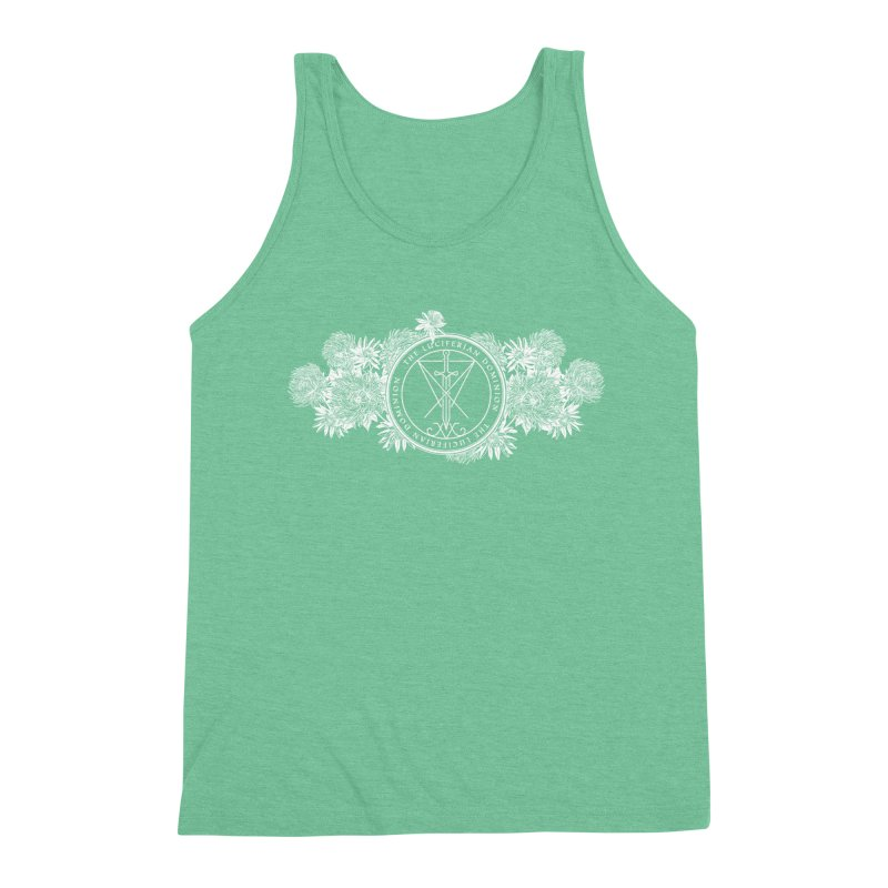 Dominion Flowers - White Men's Triblend Tank by The Luciferian Dominion