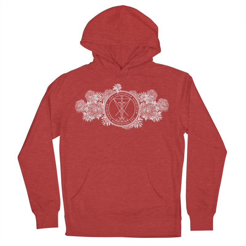 Dominion Flowers - White Men's French Terry Pullover Hoody by The Luciferian Dominion