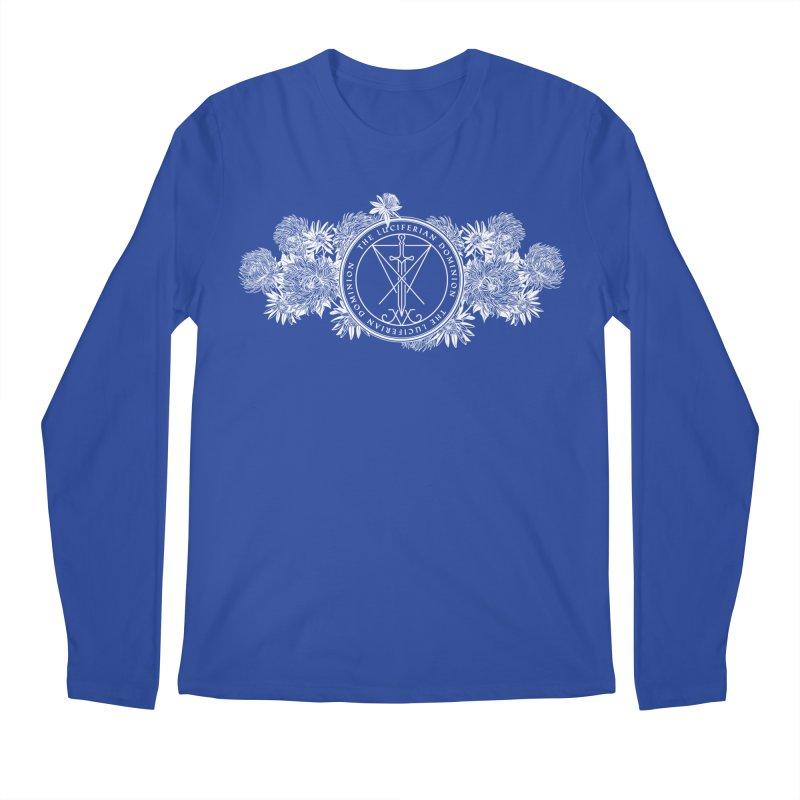 Dominion Flowers - White Men's Regular Longsleeve T-Shirt by The Luciferian Dominion