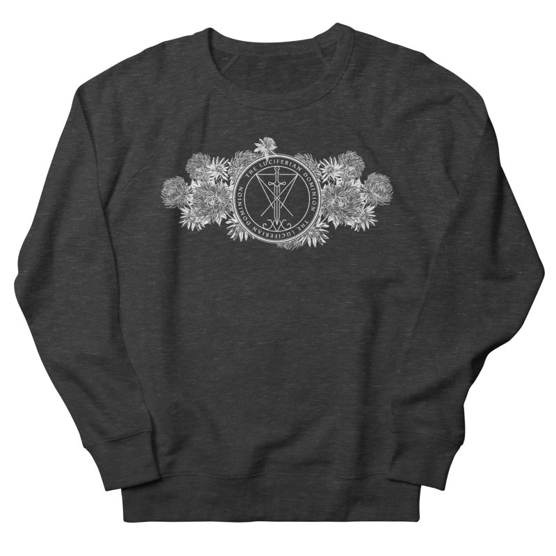 Dominion Flowers - White Men's French Terry Sweatshirt by The Luciferian Dominion