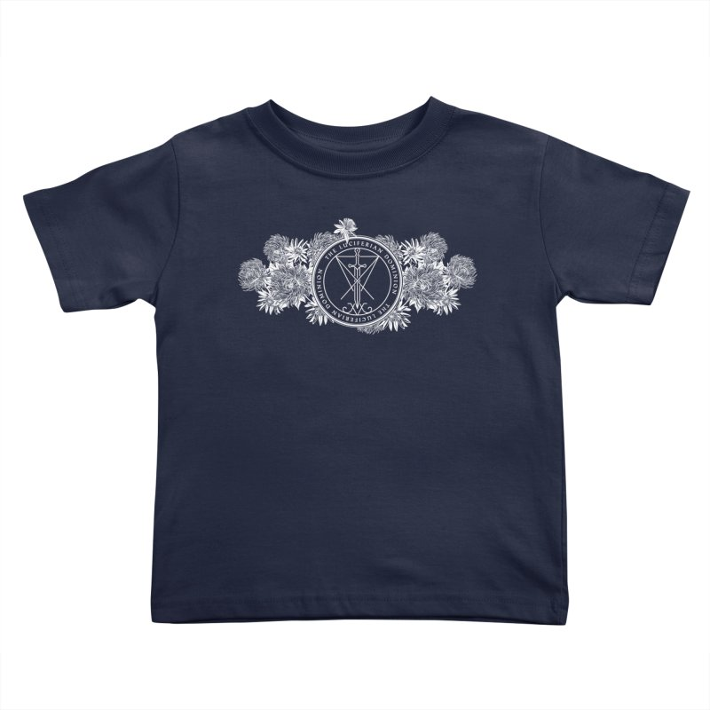 Dominion Flowers - White Kids Toddler T-Shirt by The Luciferian Dominion