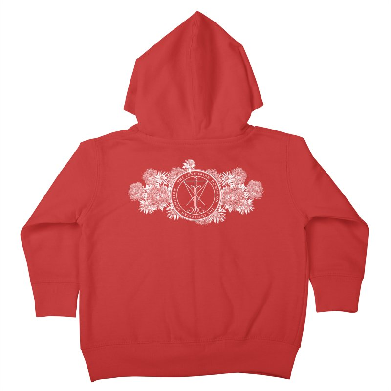 Dominion Flowers - White Kids Toddler Zip-Up Hoody by The Luciferian Dominion