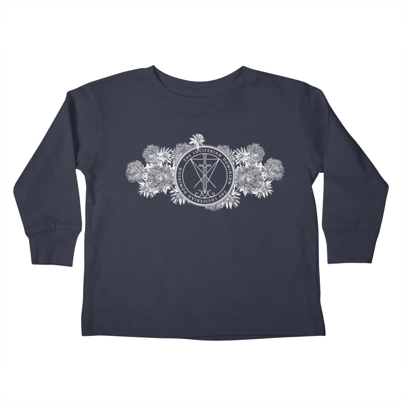 Dominion Flowers - White Kids Toddler Longsleeve T-Shirt by The Luciferian Dominion