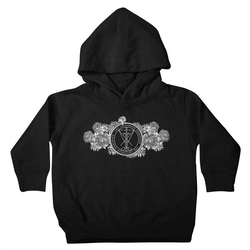 Dominion Flowers - White Kids Toddler Pullover Hoody by The Luciferian Dominion