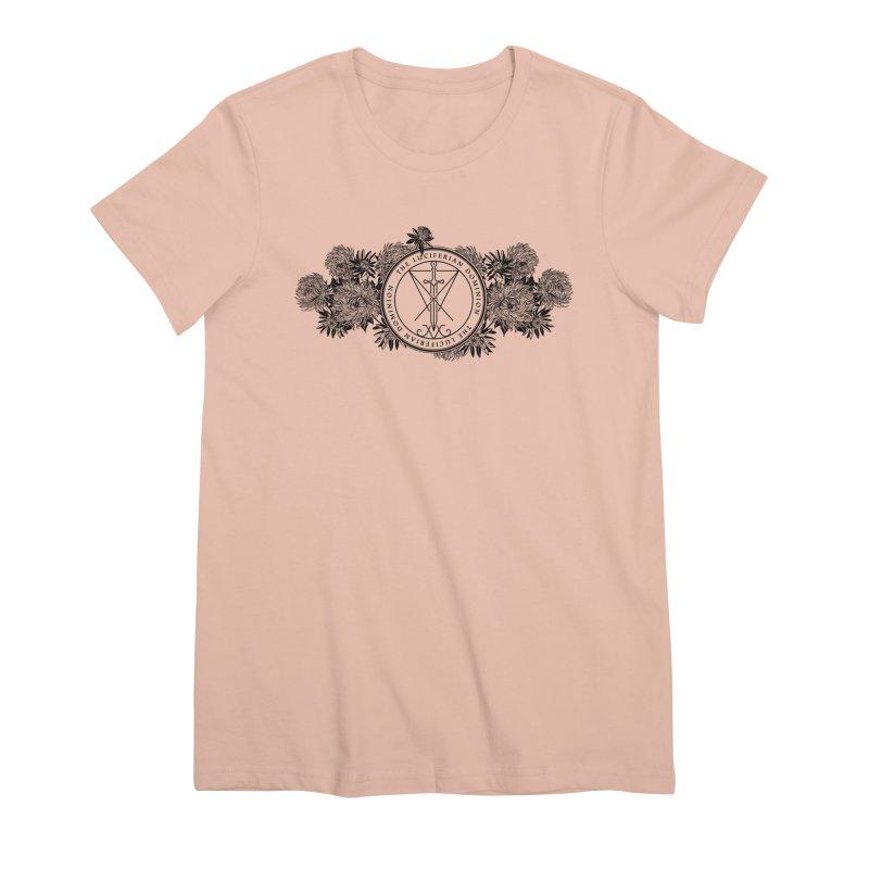 Dominion Flowers - Black Women's Premium T-Shirt by The Luciferian Dominion