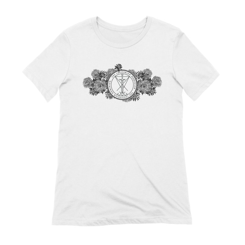 Dominion Flowers - Black Women's Extra Soft T-Shirt by The Luciferian Dominion