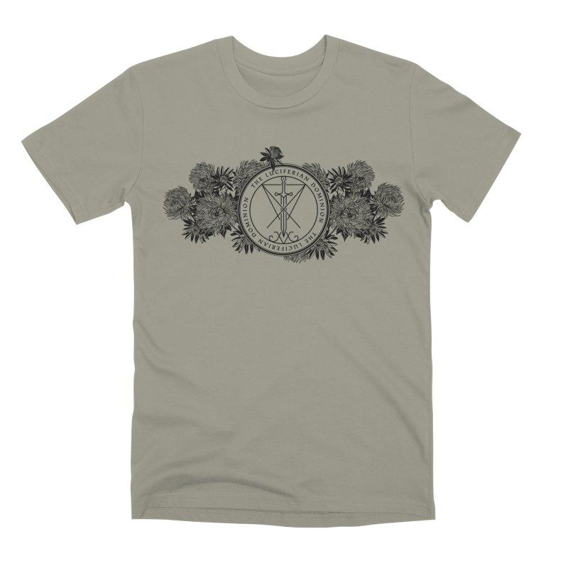 Dominion Flowers - Black Men's Premium T-Shirt by The Luciferian Dominion