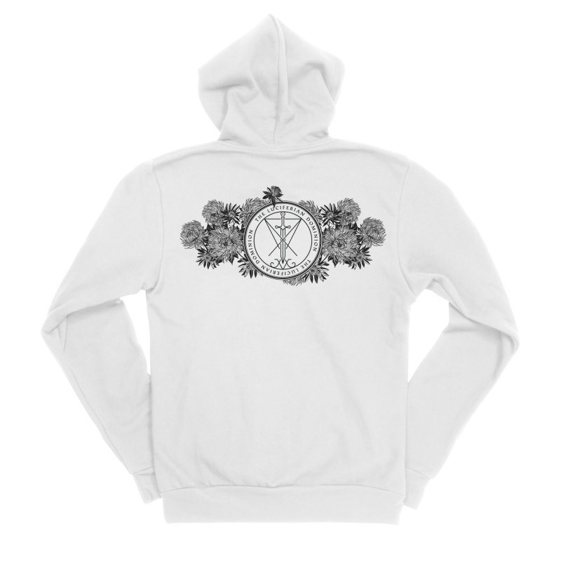 Dominion Flowers - Black Women's Zip-Up Hoody by The Luciferian Dominion