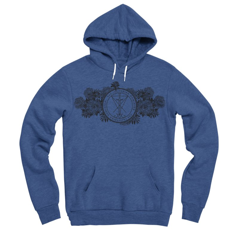 Dominion Flowers - Black Men's Sponge Fleece Pullover Hoody by The Luciferian Dominion