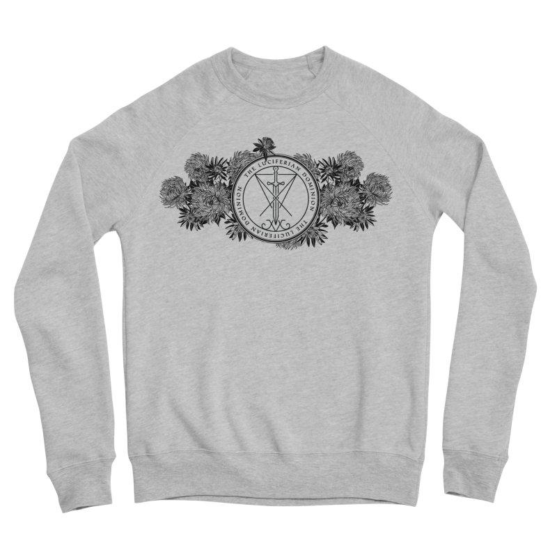 Dominion Flowers - Black Men's Sponge Fleece Sweatshirt by The Luciferian Dominion