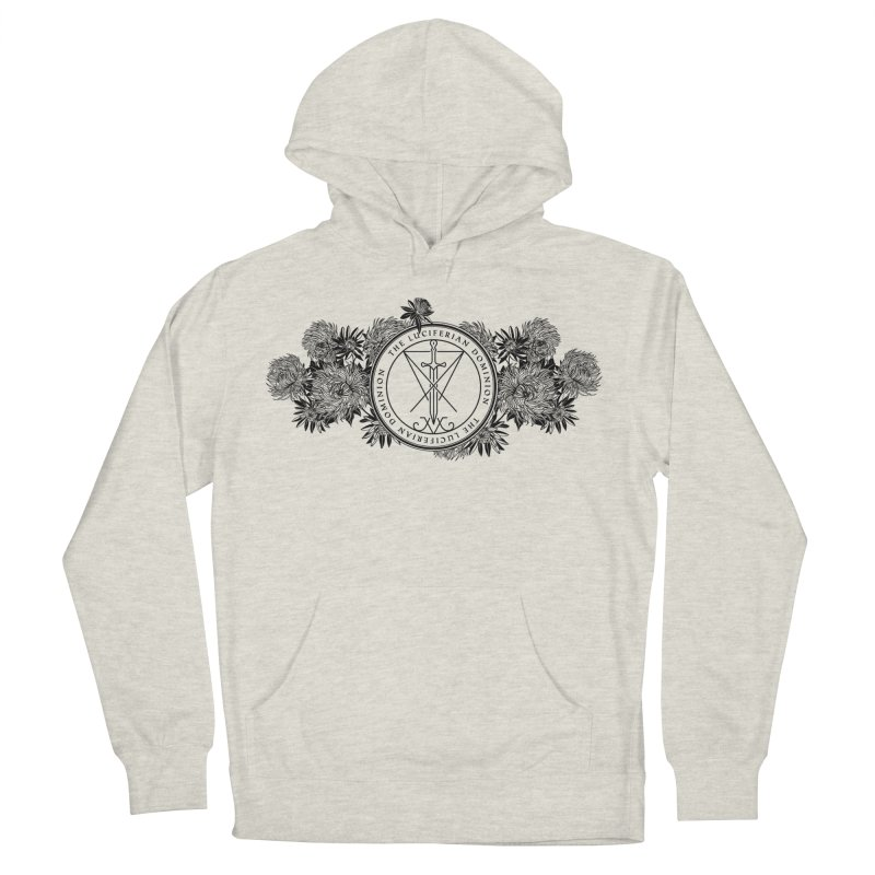 Dominion Flowers - Black Men's French Terry Pullover Hoody by The Luciferian Dominion