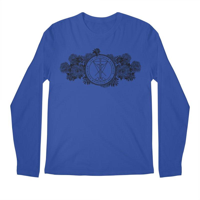 Dominion Flowers - Black Men's Longsleeve T-Shirt by The Luciferian Dominion