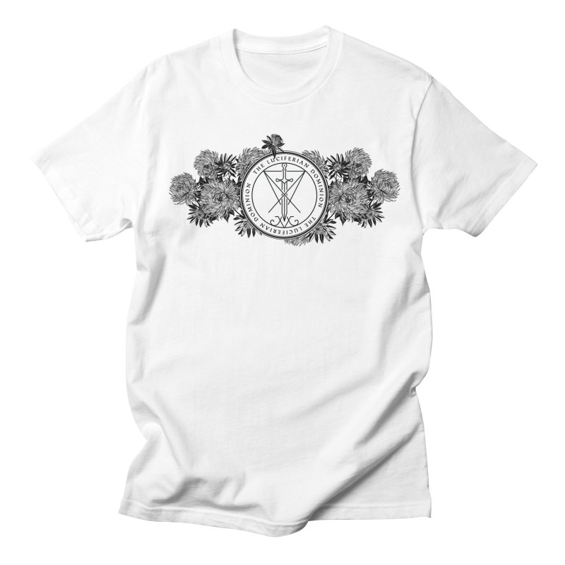 Dominion Flowers - Black Men's T-Shirt by The Luciferian Dominion