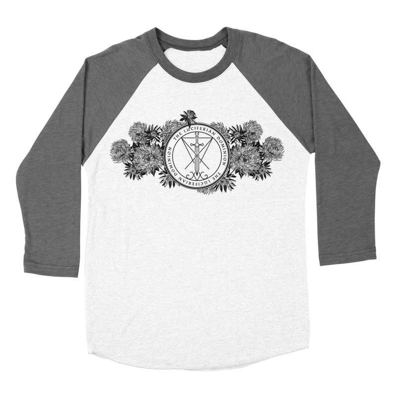 Dominion Flowers - Black Women's Baseball Triblend Longsleeve T-Shirt by The Luciferian Dominion