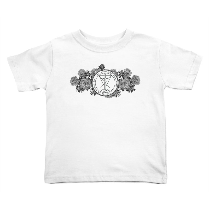 Dominion Flowers - Black Kids Toddler T-Shirt by The Luciferian Dominion