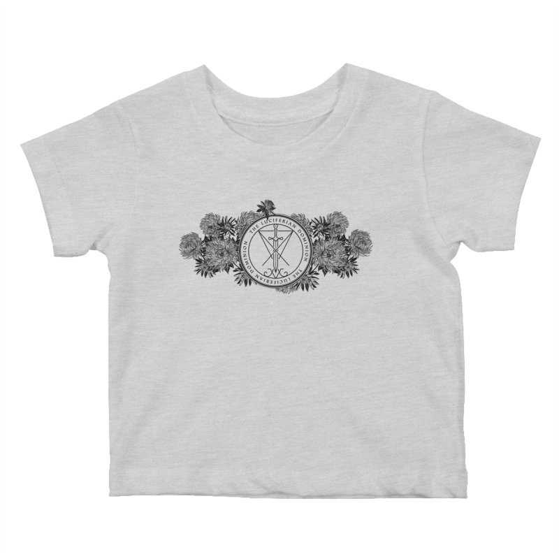 Dominion Flowers - Black Kids Baby T-Shirt by The Luciferian Dominion