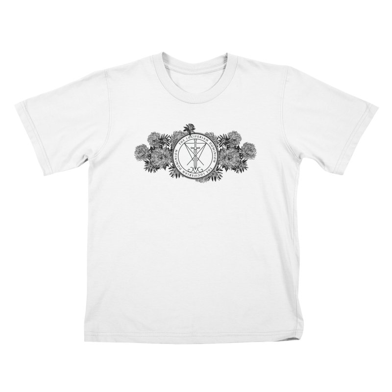 Dominion Flowers - Black Kids T-Shirt by The Luciferian Dominion