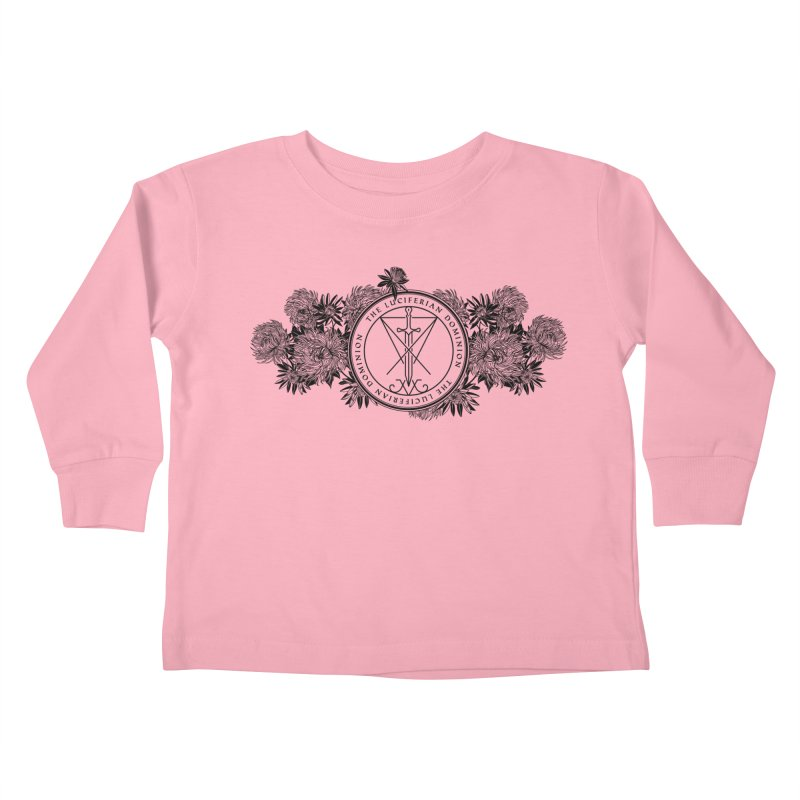 Dominion Flowers - Black Kids Toddler Longsleeve T-Shirt by The Luciferian Dominion