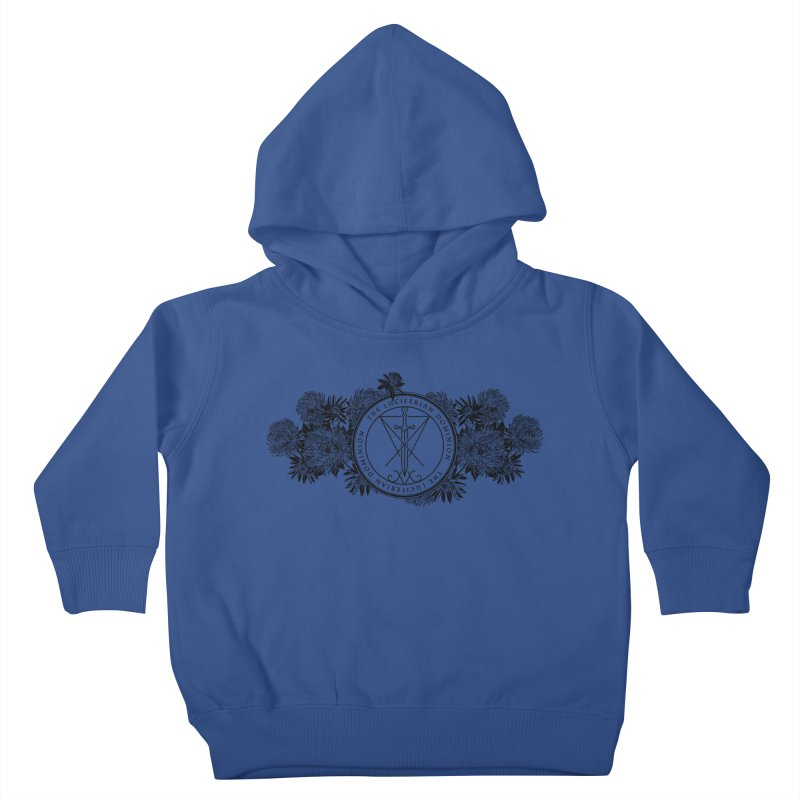 Dominion Flowers - Black Kids Toddler Pullover Hoody by The Luciferian Dominion