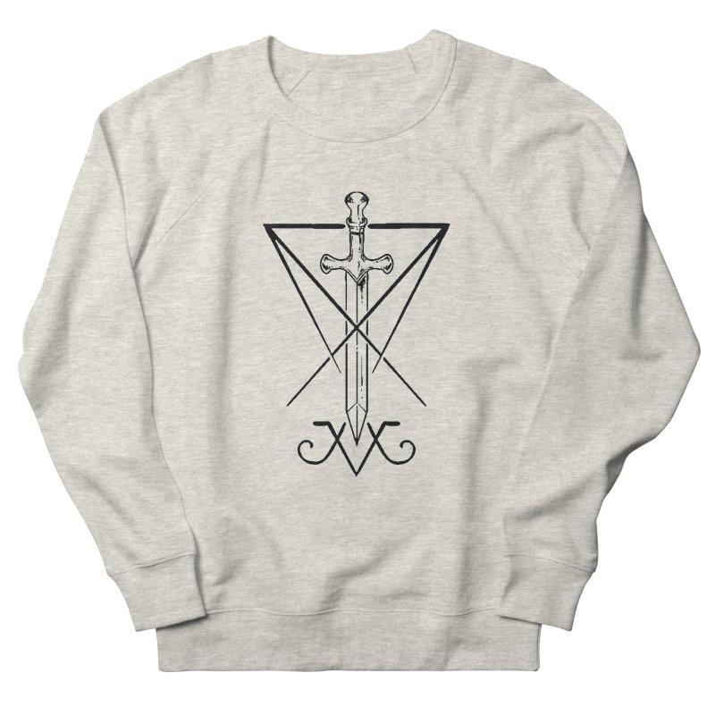 Luciferian Dominon Sword Symbol by Michelle Lore (Black) Men's Sweatshirt by The Luciferian Dominion