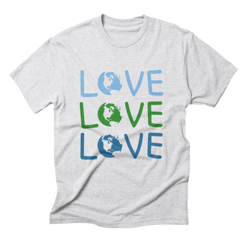 LOVE - Earth Day Men's Triblend T-Shirt by John Lucke Designs
