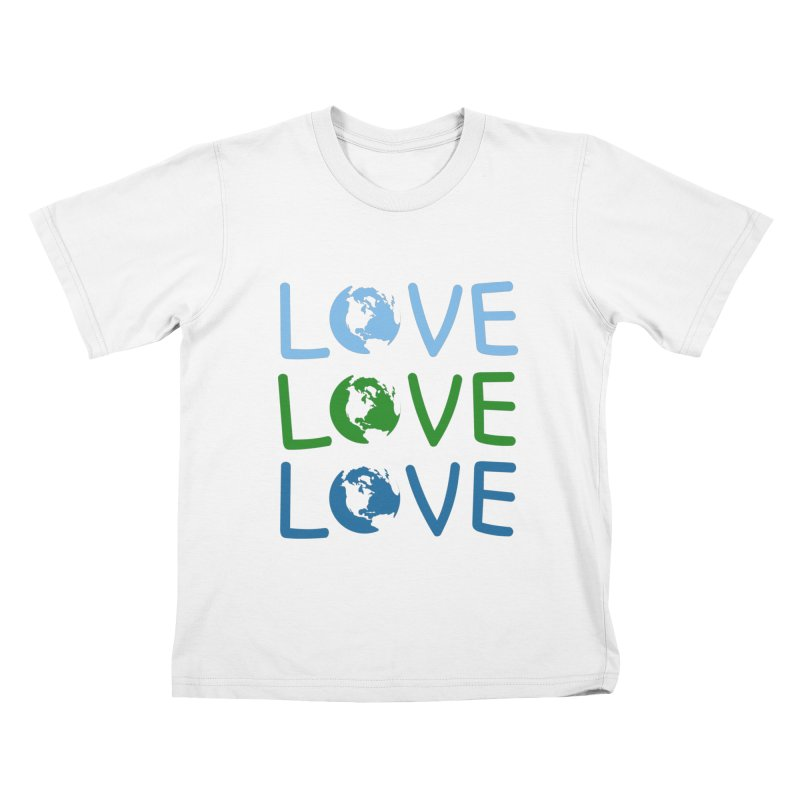 LOVE - Earth Day Kids T-Shirt by John Lucke Designs