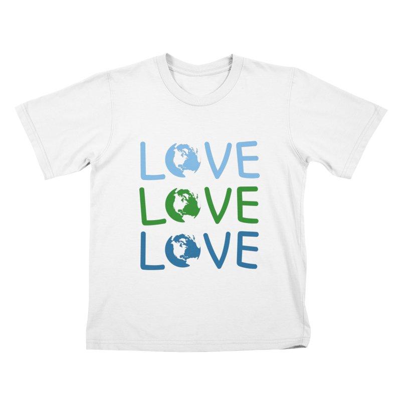LOVE - Earth Day Kids T-shirt by John Lucke Designs