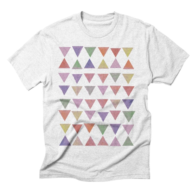Delightful Little Piramids Men's Triblend T-shirt by John Lucke Designs