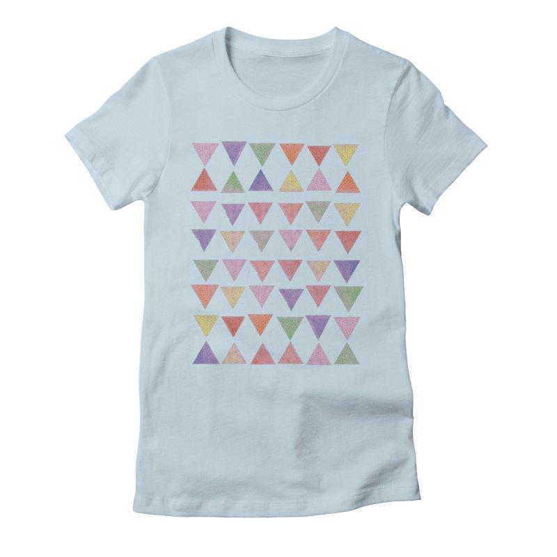 Delightful Little Piramids Women's Fitted T-Shirt by John Lucke Designs