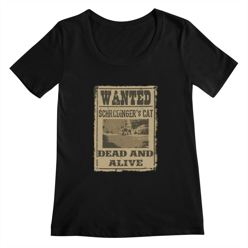 Dead And Alive Women's Scoopneck by John Lucke Designs